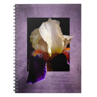 Floración del Cuaderno-Iris Libro De Apuntes Con Espiral