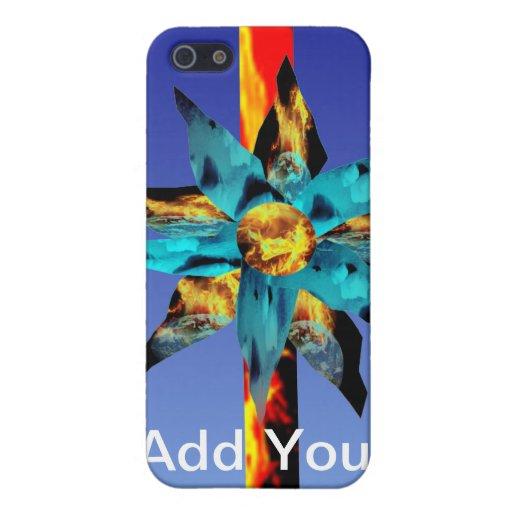 Floración del fuego y del hielo y caso el flamear  iPhone 5 funda