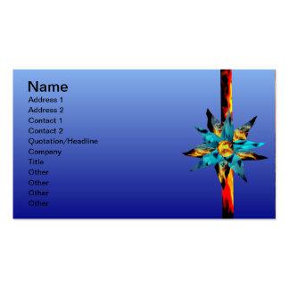 Floración del fuego y del hielo y tarjeta de plantilla de tarjeta personal