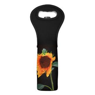 Floración del girasol bolsas para botella de vino