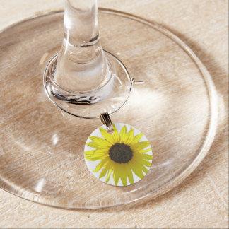 Floración del girasol identificador de copa