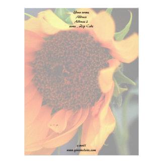 Floración del girasol membretes personalizados