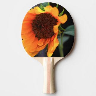 Floración del girasol pala de tenis de mesa