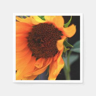 Floración del girasol servilletas de papel