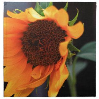 Floración del girasol servilletas imprimidas