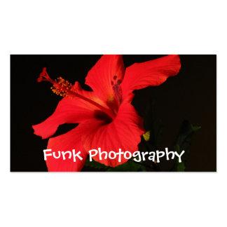 Floración del hibisco plantillas de tarjetas personales