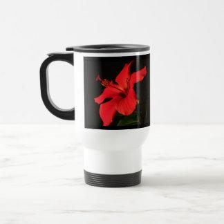 Floración del hibisco taza térmica