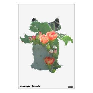 Floración del rojo del verde del cactus del higo vinilo