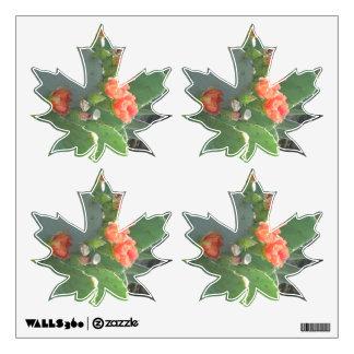 Floración del rojo del verde del cactus del higo vinilo adhesivo