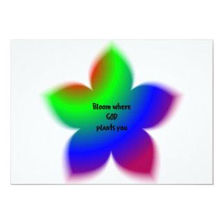 Floración donde dios le planta comunicado personalizado