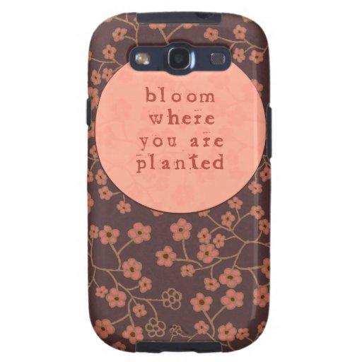 Floración donde le plantan galaxy SIII fundas