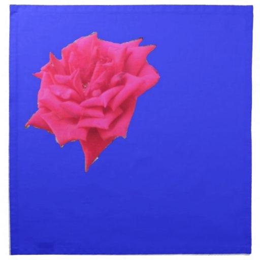 Floración donde plantado (azul) servilleta de papel