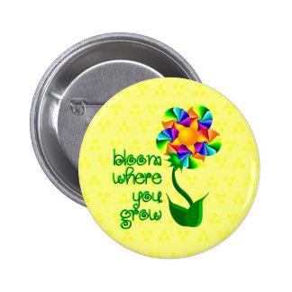 Floración donde usted crece chapa redonda 5 cm