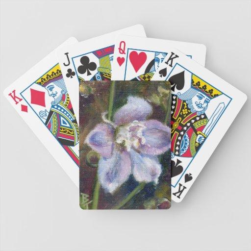 Floración dulce cartas de juego