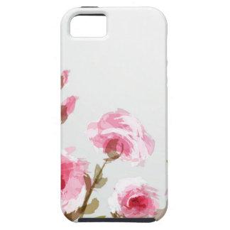floración floral subió acuarela rosada del boho funda para iPhone SE/5/5s