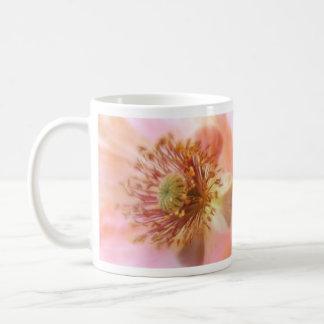 Floración frágil - amapola de la primavera tazas de café