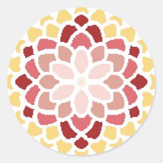 Floración marroquí pegatina redonda