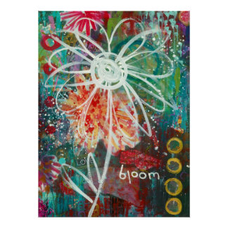 Floración - poster de la explosión de la pintada