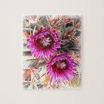 Floración púrpura del cactus puzzles con fotos