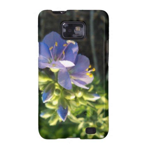 Floración púrpura samsung galaxy SII carcasa
