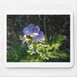 Floración púrpura tapetes de raton