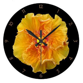Floración rizada del hibisco reloj redondo grande