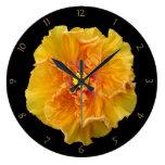 Floración rizada del hibisco relojes