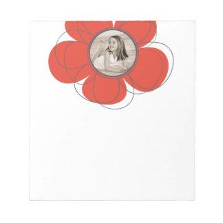 Floración roja bloc de notas