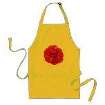 Floración roja delantal