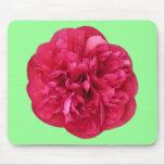 Floración roja tapete de ratón