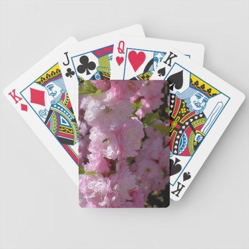 Floración rosada baraja de cartas