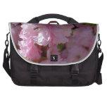 Floración rosada bolsas para portátil