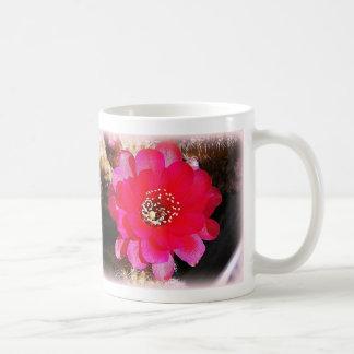Floración rosada del cactus taza de café