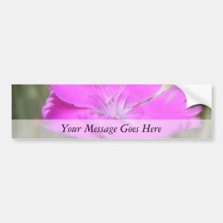 Floración rosada del clavel pegatina para auto
