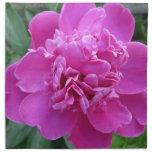 Floración rosada del Peony Servilletas Imprimidas