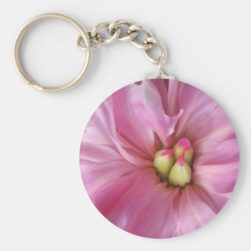 Floración rosada polvorienta del Peony Llaveros