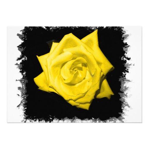 Floración subió coloreada solo amarillo comunicado personal