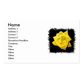 Floración subió coloreada solo amarillo tarjetas de visita