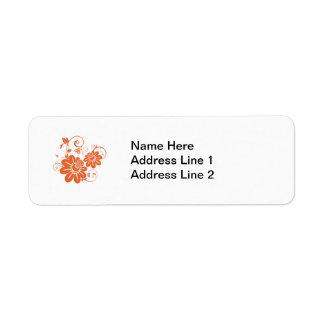 Floración y vid anaranjadas de la madreselva etiquetas de remite