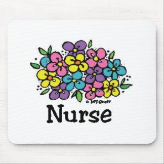 Floraciones 2 de la enfermera tapetes de raton
