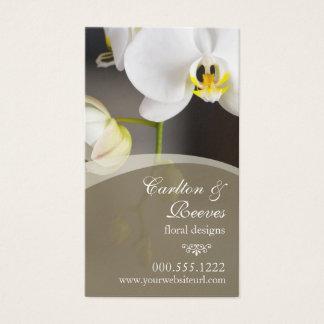 Floraciones 2 de la orquídea tarjetas de visita