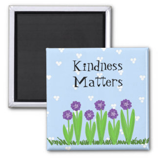 Floraciones alegres - materias de la amabilidad imán de frigorífico