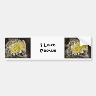 Floraciones amarillas del cactus pegatina para auto