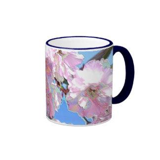 Floraciones asiáticas del este de la cereza de taza de dos colores