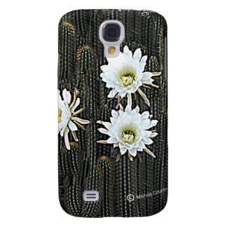 Floraciones blancas del cactus funda para galaxy s4
