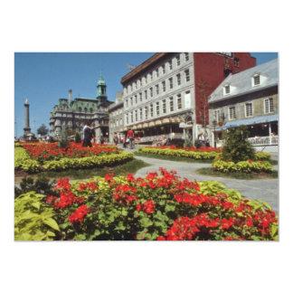 Floraciones blancas del verano, flores de Montreal Invitación