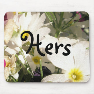 Floraciones blancas mouse pad