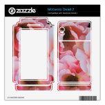 Floraciones color de rosa rosadas apacibles - foto skins para motorola droid 2