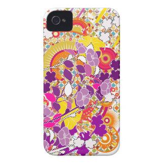 Floraciones coloridas Case-Mate iPhone 4 cobertura