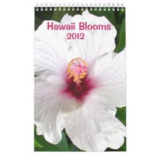 Floraciones de Hawaii Calendarios De Pared